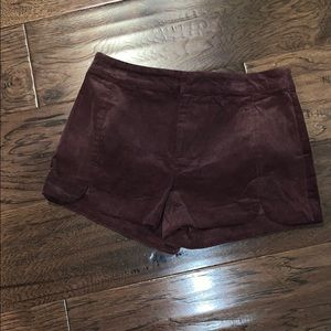 Anthropologie Corduroy Scalloped Shorts, Small